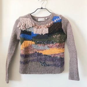 Anthropologie hand knit sweater top